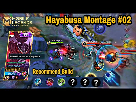 Hayabusa Freestyle Kill || Montage  Ranked /Classic Highlight 🔥Recommend Build Haya, Mobile Legends.