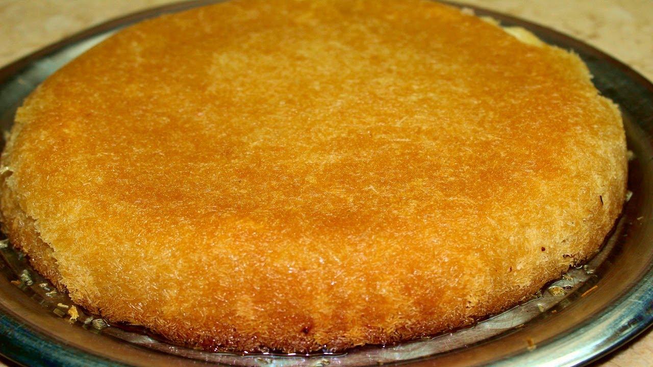 طريقة الكنافة السخنة الطرية المحشية بالجبنة