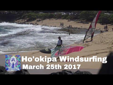 Ho'okipa Windsurfing - March 25th 2017