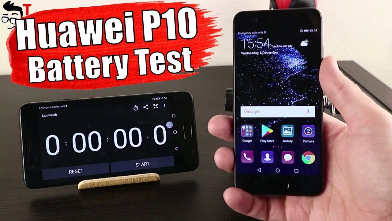 Huawei P10 Battery Drain Test And Charging Time