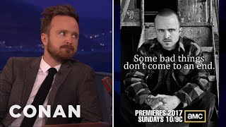 "Aaron Paul On ""Breaking Bad"" Reboot Rumors  - CONAN on TBS"