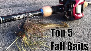 Top 5 Fall Baits and How to Fish