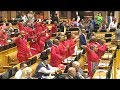 EFF And ANC Singing And Celebrating Land Reform Victory In Parliament