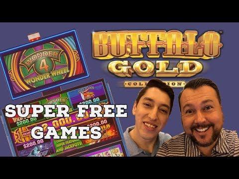 WONDER 4 Buffalo Gold BONUS WHEEL & SUPER FREE GAMES