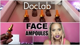 doclab premium face ampoule first impression   review   demo