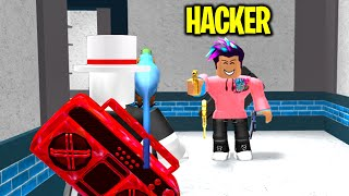 I found a hacker in murder mystery 2.. (Roblox)