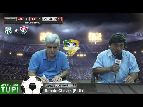Caldense 0  x 1 Fluminense - Copa do Brasil - 31/01/2018