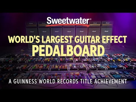 Sweetwater just broke the world record for the largest guitar effect pedalboard | Guitarworld