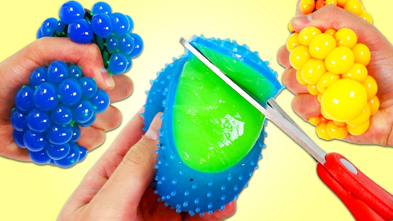 Squishy Ball In A Net : Whats Inside These SLIME MESH BALLS?? - YouTube
