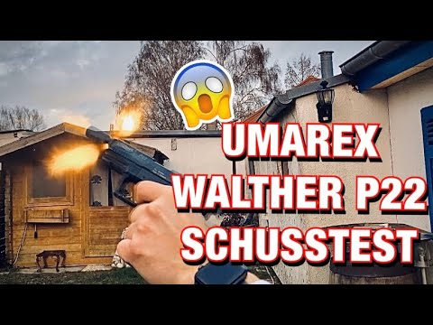 UMAREX - Walther P22 P.A.K. Unboxing / Schusstest