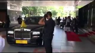 Malaysian King (Agong) Motorcade Arriving At The National Mosque