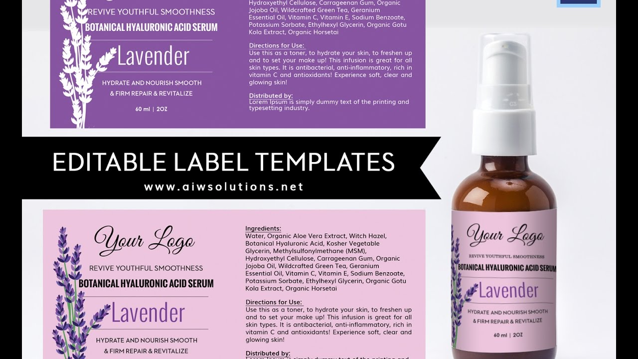 How to create your own label from Photoshop template YouTube – Product Label Template