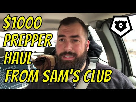 $1,000 Sam's Club Prepper Haul! DaBizzle Flu and Grand Solar Minimum