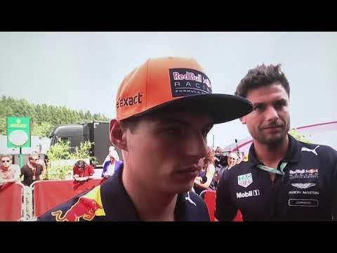 F1 2017 Belgium GP Max Verstappen post race reaction