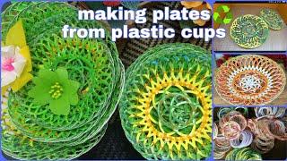 Zona Kreatif - Membuat Piring Dari Gelas Plastik Bekas