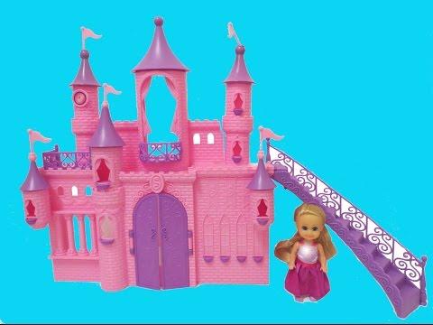 PRINCESS Castle Toys Unboxing Sparkle Girlz Dolls Funville ♥ Frozen Elsa Magic Disney