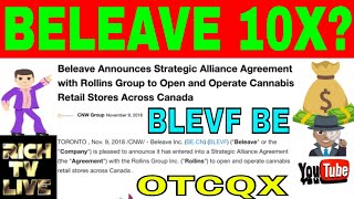 Beleave Inc. (OTCQX: BLEVF) (CNX: BE) Announces Strategic Alliance Agreement with Rollins Group