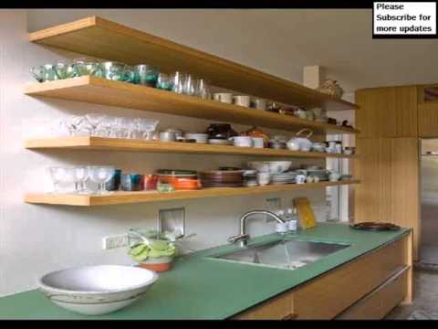 kitchen shelves ideas cabinet door wall shelving picture collection youtube