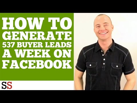 How to Generate 537 Buyer Leads a Week on Facebook