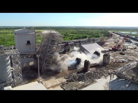 Chemical Plant Milling/Screening Structure & Rotary Kiln Pedestals - Controlled Demolition, Inc.