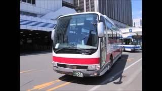 札幌に集まる道内各社のバス