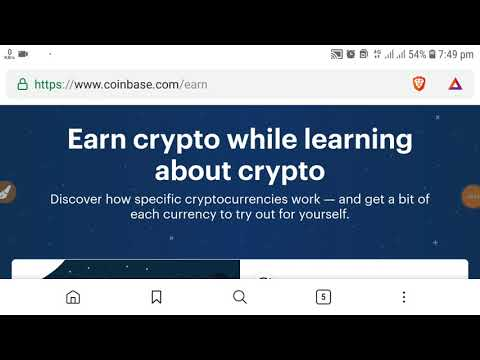 Earn free ZCash, BAT Token ZRX from coinbase.