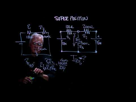 Electronic Circuits | Simple Series & Parallel Resistor Circuits - Part 4 of 4: Super Position