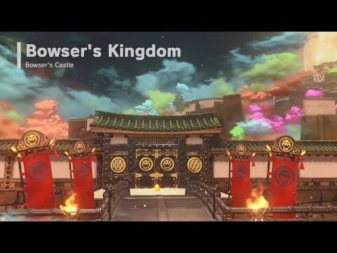 Super Mario Odyssey | Bowser's Kingdom - All Power Moons & Oblong Coins