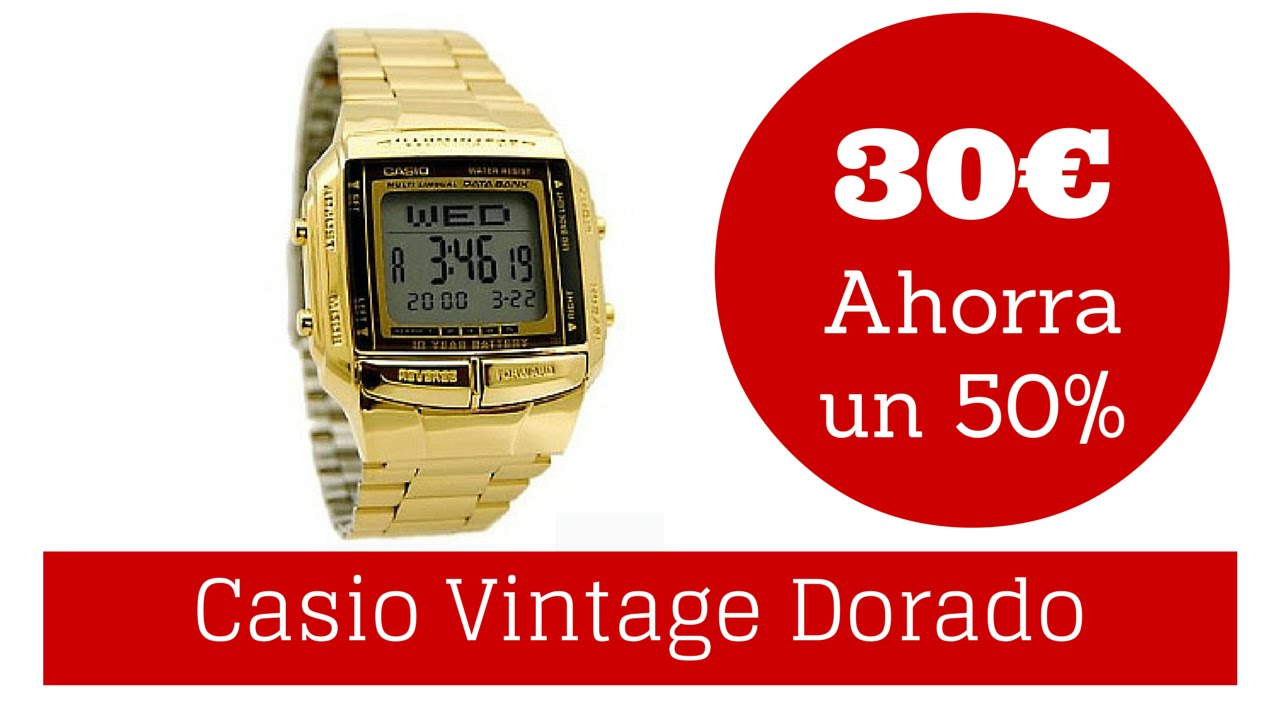 9688b5417800 Reloj Casio Retro Vintage A168 Dorado - YouTube