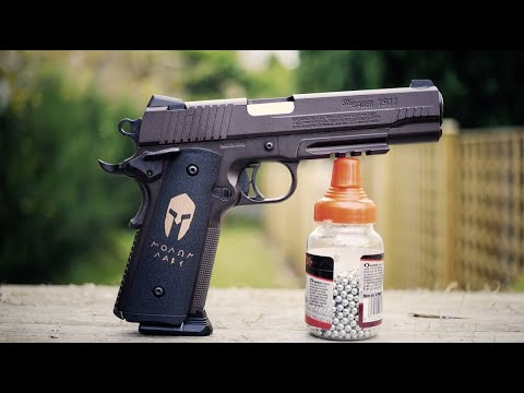 REVIEW: Sig Sauer 1911 - License Free Replica - CO2 4.5mm - Greek History
