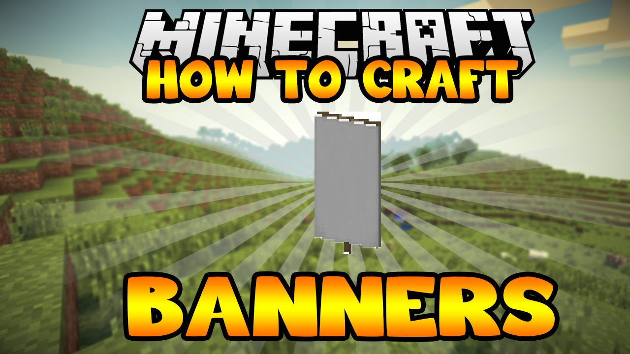 how to make a minecraft banner for youtube