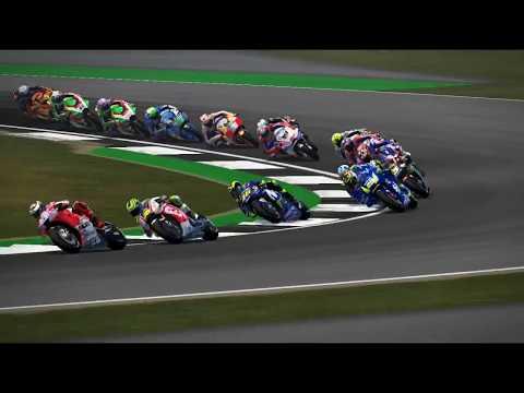 MotoGP Inggris Silverstone Valentino Rossi Battle Podium Game PC MotoGp 17 Mod 18 TV Camera