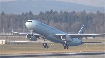 Flugverkehr am Flughafen Zürich