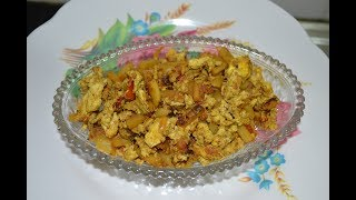 Masala Egg Bhurji with Potato by Couples Rasoi