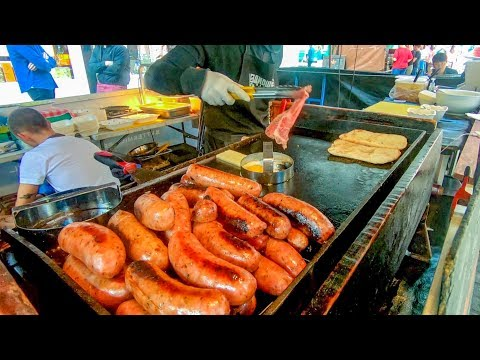 Argentinian Chorizo Sausage in Great Sandwiches Tasted in Soho. London Street Food
