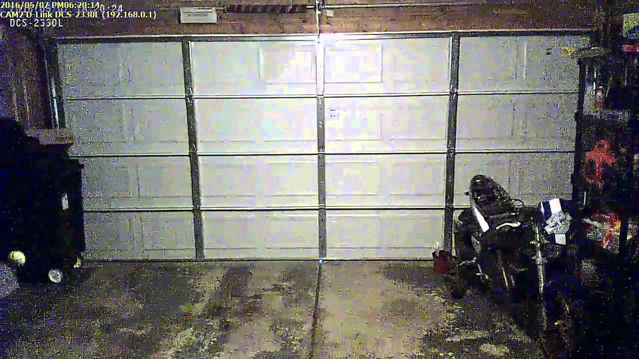 garage door tension spring breaks on security camera YouTube