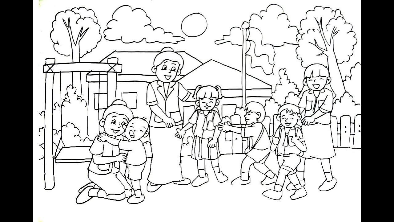 SELAMAT HARI GURU Wow Mudahnya Menggambar Tema Hari Guru