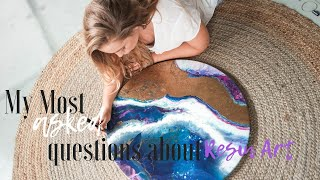 My most asked questions about Resin Art. MUST WATCH FOR ANY NEW RESIN ARTIST!