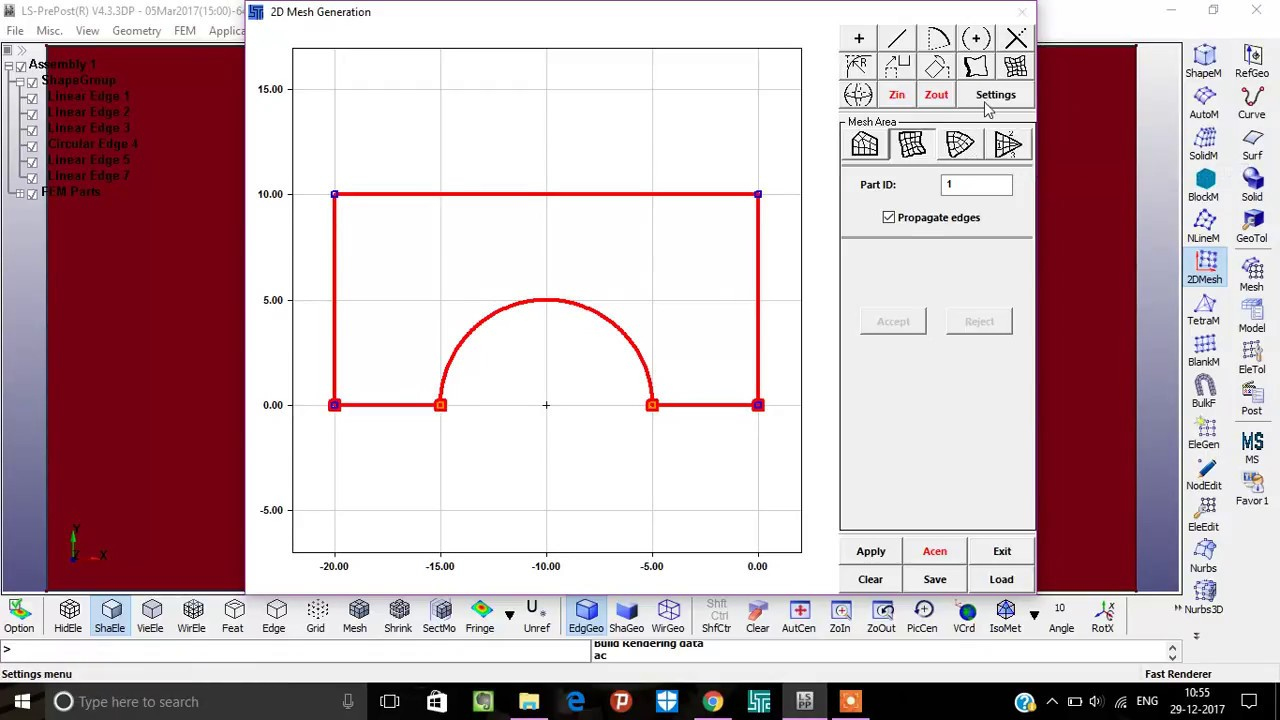 LS DYNA || 2D mesh Ex-1