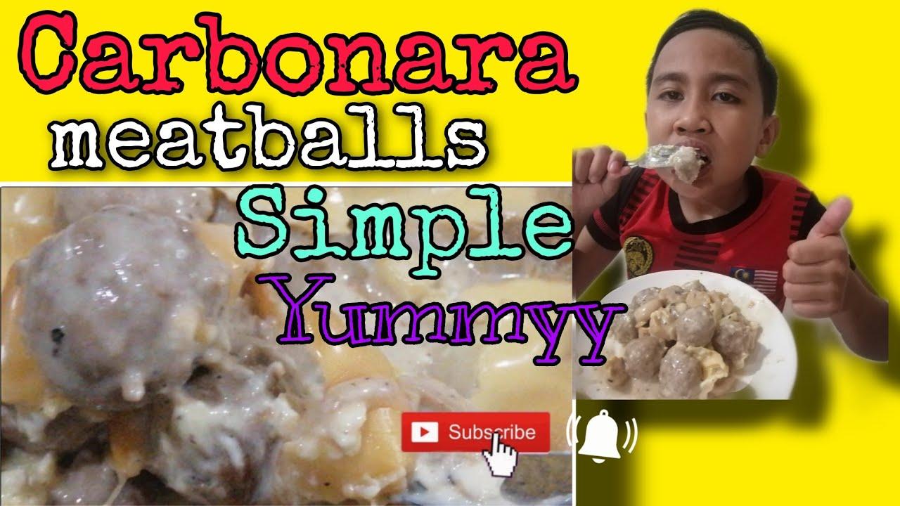 Download Carbonara Meatballs simple & sedap