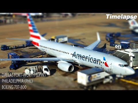Timelapse Flight | Dallas Fort-Worth to Philadelphia | American Airlines B737-800