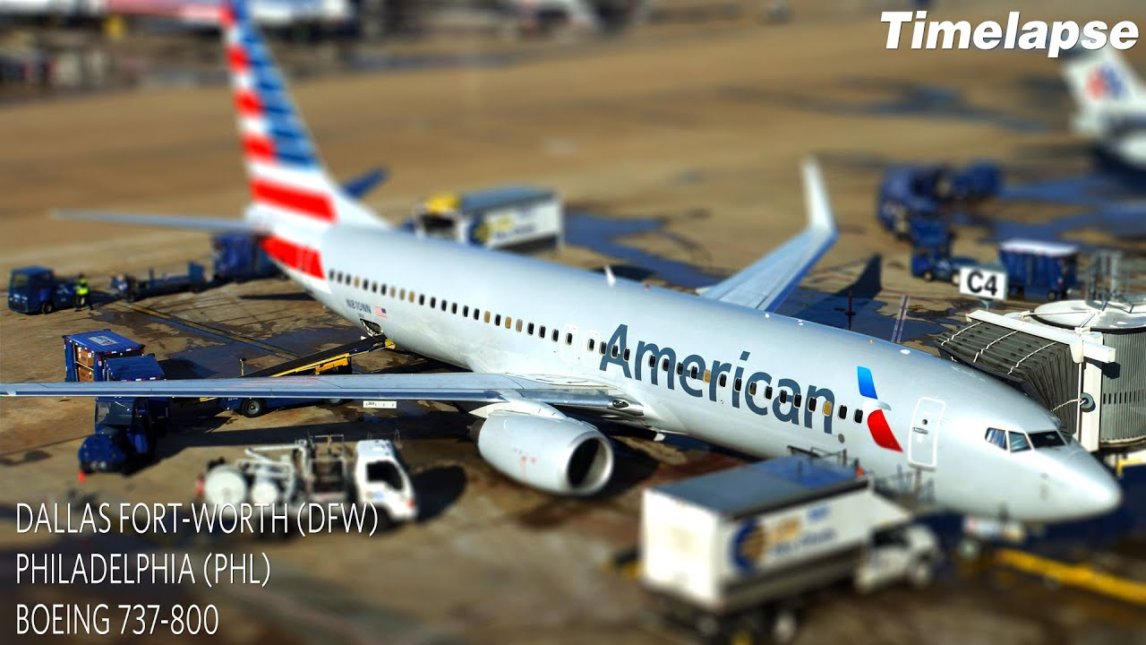 Timelapse Flight Dallas Fort Worth To Philadelphia