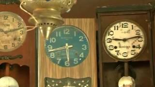 Devoted clock collector owns mini museum of antique clocks