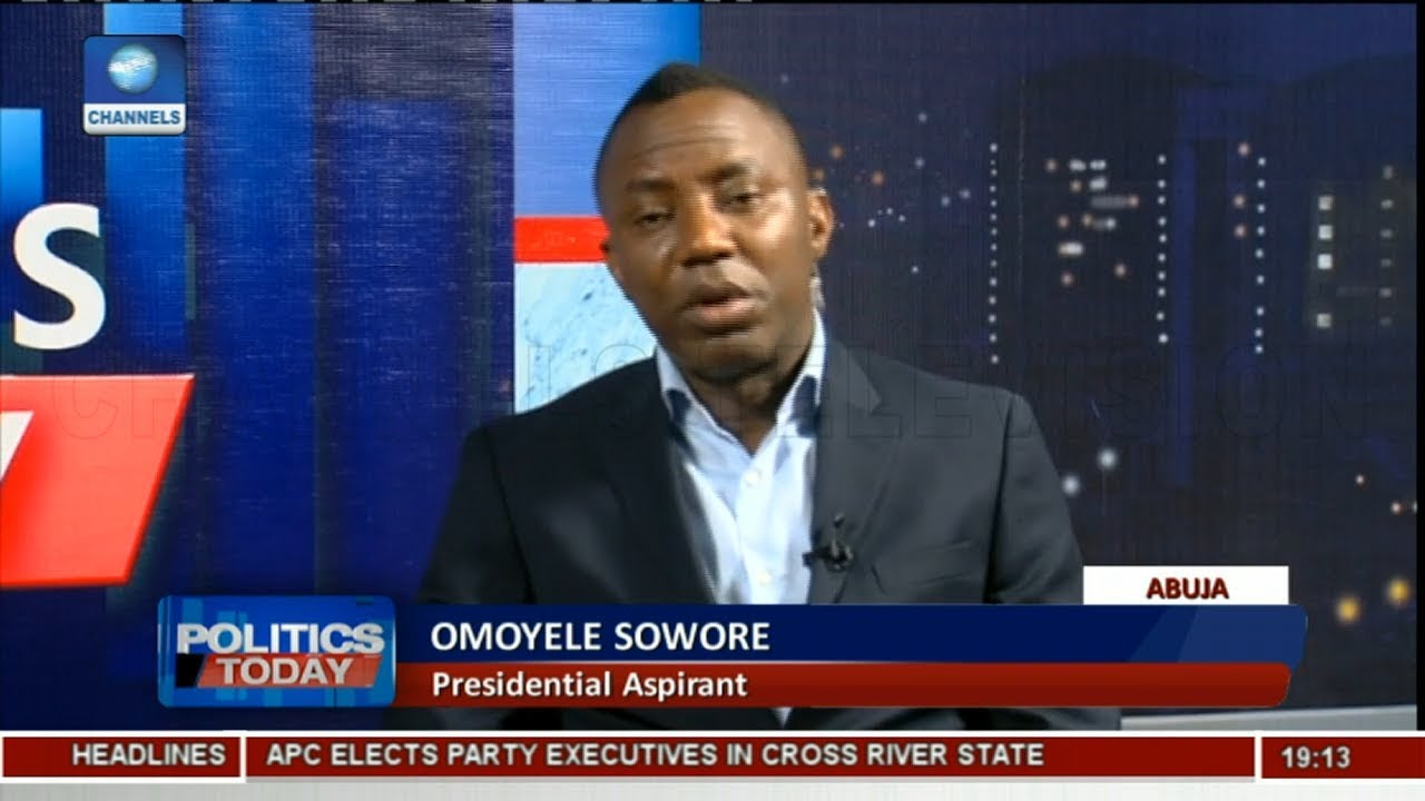 2019 Election: Sowore Wants To Debate Buhari, Other Aspirants Pt.1 | Politics Today |