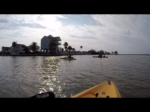 Marsh kayak fishing Bayou Vista TX, speckle trout out in force