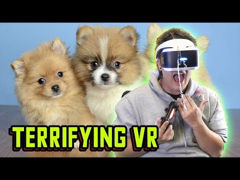 ALRIGHT HEY subjected to SCARY VR! FUNNIEST NOOB reaction to virtual reality