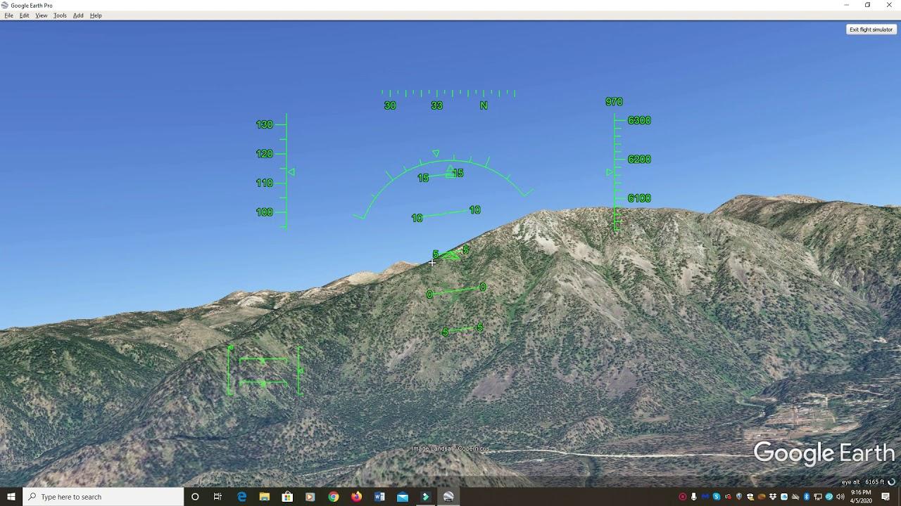 Google Earth Flight Simulator - YouTube