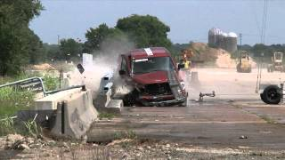 Crash Test: Truck into rail wide view