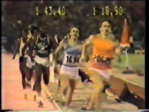 """Seb Coe UK 800m record, 1978, Brussels."""