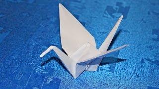 як зробити журавлика просту з паперу